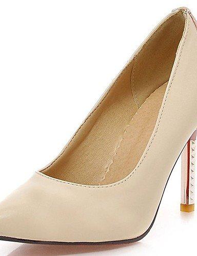 GGX/Damen Schuhe PU Sommer/spitz Toe Heels Büro & Karriere/Casual Stiletto Heel Split Gemeinsame blau/pink/rot blue-us7.5 / eu38 / uk5.5 / cn38