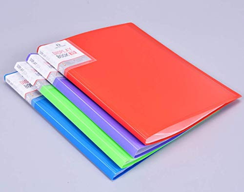 20 - Pocket Presentation Display Book A4 Size | 40-Page Capacity for Multi-Purpose Document Protection - Sheet Music, Reports, Artwork, School Projects, 4 Pack ()