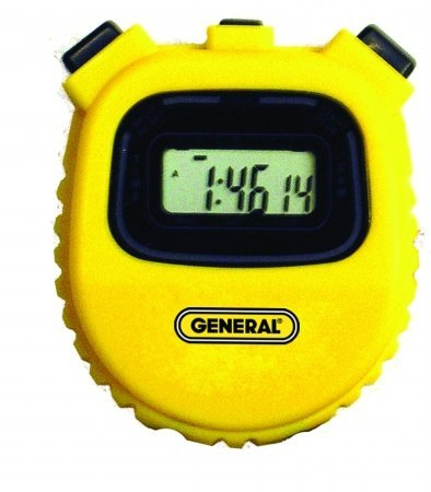 General Tools SW100AY Multi-Function Yellow Stopwatch
