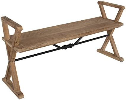 Kate and Laurel Travere Wood Bench