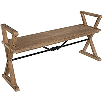 Amazon Com Kate And Laurel Travere Wood Bench Rustic