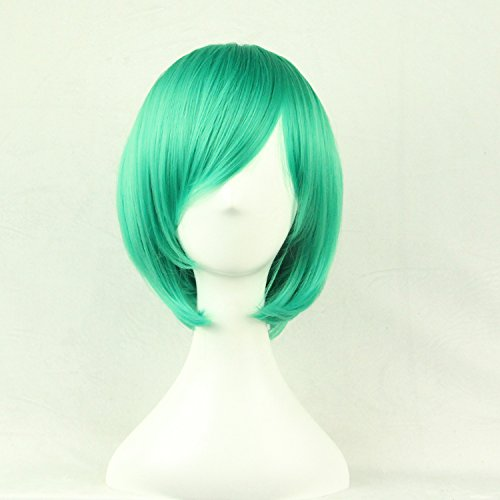 Women/ladies 32cm Short Hair Cosplay/costume/anime/party/bang Full Sexy Wig (GREEN) ()