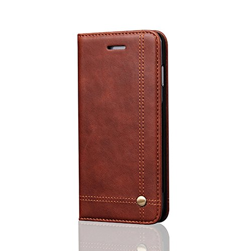 ONlY! 5.5inch iPhone 7Plus Case, Aroko Wallet Phone Case [Card Slot] [Flip] [Wallet] [Stand] Carry-All Case - for Apple iPhone7Pluscase (iphone7Plus 5.5inch, DepBrown)