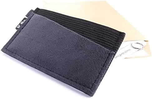 K.So. Slim Minimalist Front Pocket Wallet for Men and Women. Minimal Thin Small & Compact Elastic Wallet and Credit Card Holder