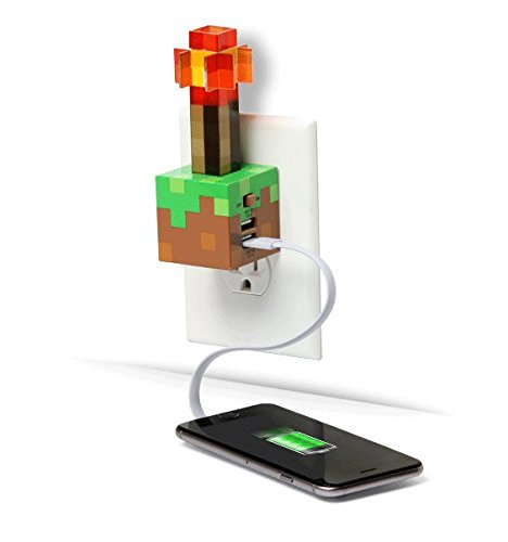 Price comparison product image ThinkGeek Minecraft Redstone Torch USB Wall Charger
