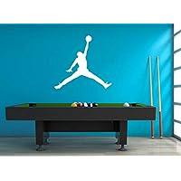 Artstickerscool Jordan Wall Decal - Michael Jordan Decal - Air Jordan Decal - Jordan Poster - Basketball Decal - Sport Decor - Basketball Decor - Poster