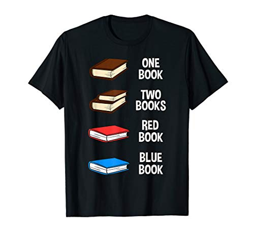 One Book Two Book Red Book Blue Book Shirt Reading Gift Idea