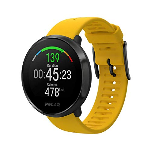 POLAR IGNITE - Advanced Waterproof Fitness Watch (Includes Polar Precision Heart Rate, Integrated GPS and Sleep Plus Tracking), Yellow/Black, M/L