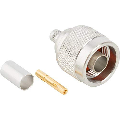 N-Type Crimp Plug Male Cable Straight RF Connector For LMR