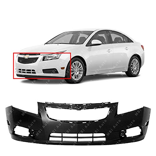 MBI AUTO - Primered, Front Bumper Cover Fascia for 2011 2012 2013 2014 Chevy Cruze 11 12 13 14, GM1000924 (Aftermarket Bumpers Front)