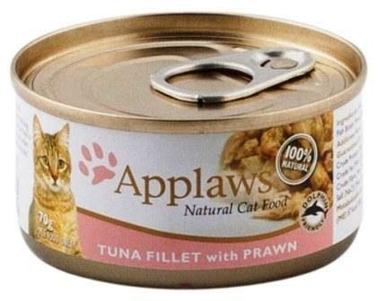 Applaws Fins Fur and Feathers Natural Cat and Kitten Food Tin Tuna Fillet with Prawn - Pack of 4 (B07GD6J726) Amazon Price History, Amazon Price Tracker