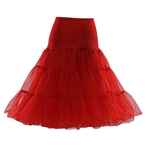 Favebridal Women Short Skirt Petticoat Slip 12018RD