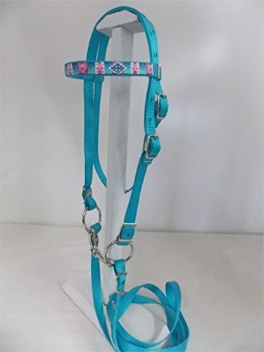MINIATURE HORSE / SM PONY TURQUOISE BRIDLE WITH NATIVE (Miniature Horse Pony)