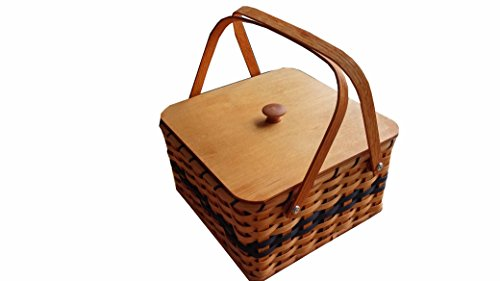Hand Woven Double Pie Carrier Basket-Amish Made In Ohio