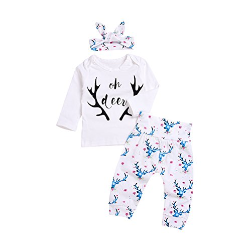 Baby Kids Girls Letters Printed Long Sleeve T-shirts Tops Clothes - 1