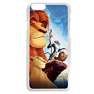 Customized White Hard Plastic Plastic Disney Cartoon the Lion King iPhone 6 4.7 Case, Only fit iPhone 6 4.7""