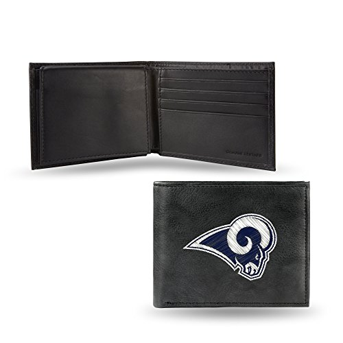 Rico Industries NFL Los Angeles Rams Embroidered Leather Billfold Wallet