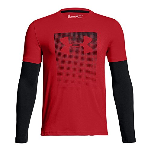 Under Armour Kids Boy's Knit 2-In-1 Long Sleeve (Big Kids) Red/Black/Black Small by Under Armour (Image #1)