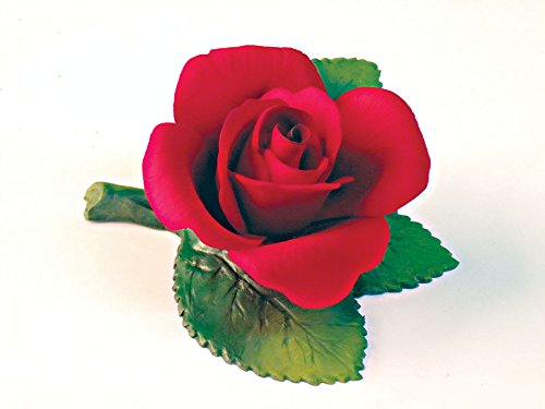 Capodimonte Dolly Rose on Leaves