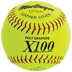 MacGregor X52RE ASA Slow Pitch Leather Softball, 12-inch (One Dozen) (Macgregor Leather)