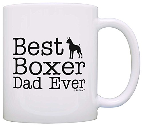 White Boxer Pictures - Dog Lover Gifts Best Boxer Dad Ever Pet Owner Rescue Gift Coffee Mug Tea Cup White