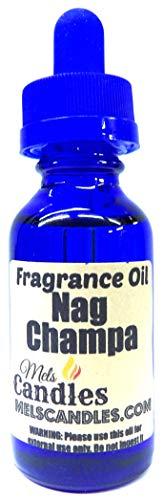- Nag Champa 1oz / 29.5ml Blue Glass Bottle of Skin Safe Fragrance Oil, Soap Oil, Candle Oil
