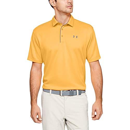 Under Armour Men's Tech Polo, Mango Orange//Pitch Gray, 3X-Large (Mens Athletic Shirt)