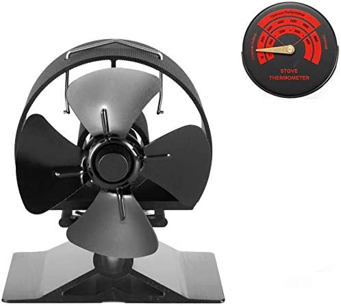Amazon Com Crsure Wood Stove Fan 4 Blade Fireplace Fan Heat Powered Thermal Fans For Wood Stoves Burner Wood Burning Stove Top Eco Friendly Fans Specially For Pellet Stove Mini Size Home Kitchen