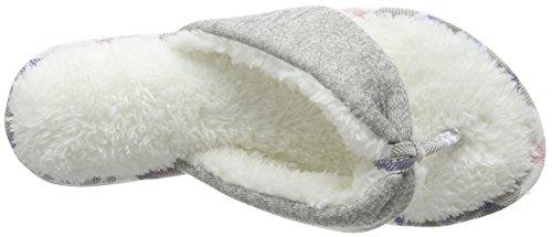 Zapatillas gris claro para espalda con claro gris y Dearfoams abierta gris mujer rPnYraq