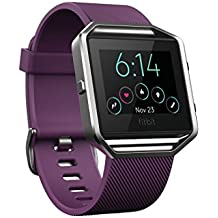 Fitbit Blaze Smart Fitness Watch, Plum, Silver, Small (Certified Refurbished)