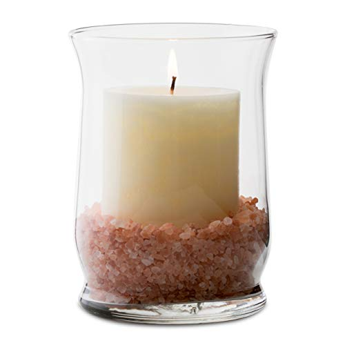 Libbey Adorn 6-Piece Glass Hurricane Vase Set, 4.4-inch