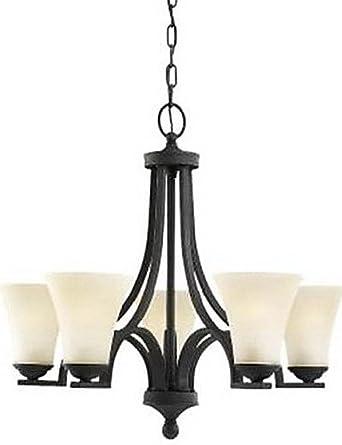 Amazon.com: JIN@ Lámpara de araña de tela, 6 luces modernas ...