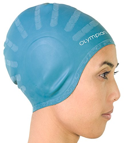 Long Hair Swim Cap - Swimming Caps for Women Men Girls Boys- Youth/Adult Casual and Competitive Swimming - Silicone Swim Cap for Waterproof Headphones and for ECO Friendly Swimmers