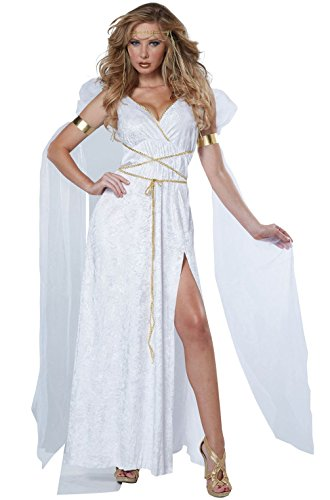 [Mememall Fashion Sexy Athenian Goddess Greek Roman Adult Costume] (Athenian Soldier Costume)