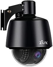 ZILNK Caméra IP extérieure sans fil, Outdoor Caméra de sécurité 1080p Full HD à vision panoramique, inclinaison et zoom 5x,vision nocturne,IP65 étanche, alerte de mouvement,support de carte SD 128 Go …