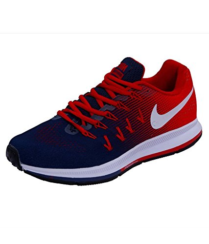 Subtropical fluctuar Recitar  Buy Nike Men's Air Zoom Pegasus 33 Running Shoes - 7 UK Red/Blue at Amazon .in