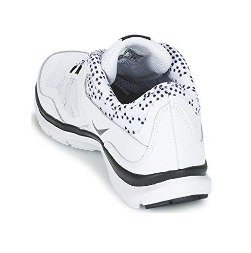Nike Wmns Flex Trainer 5 Print, Zapatillas de Gimnasia para Mujer Blanco (White / Black-Pure Platinum)