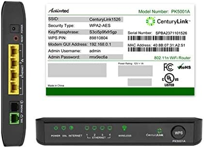 CenturyLink Actiontec PK5001A Wireless Router