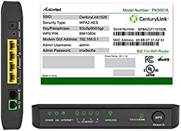 CenturyLink Actiontec PK5001A ADSL2/2+ Modem & Wireless N Router: Amazon.ca:  Electronics