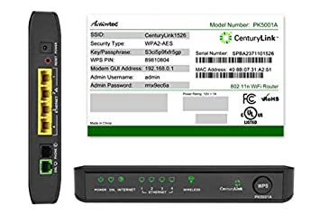 Amazon com: CenturyLink Actiontec PK5001A ADSL2/2+ Modem & Wireless