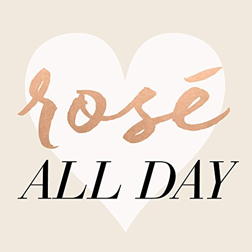 ROSÉ ALL DAY set of 25 premium white, black and rose gold temporary Flash Tattoos - use for girls night out, party favors, festivals, and more!