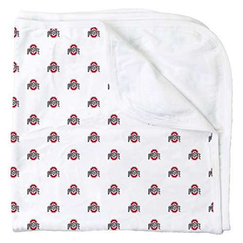 Wes and Willy Ohio State University All Over Print Baby and Infant Blanket, OSU Logo
