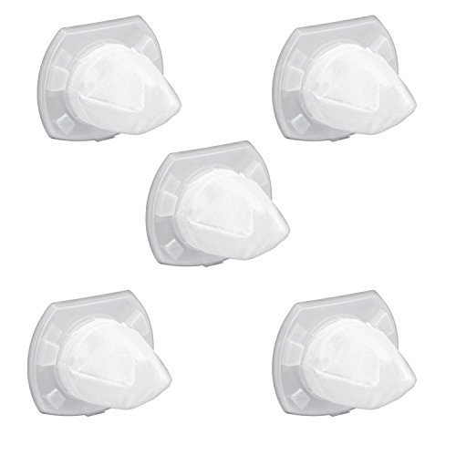 Dustbuster Replacement Filter - 5 Pack Replacement Filter for Black & Decker VF110 Dustbuster,Replaces Part # VF110, 90558113-01