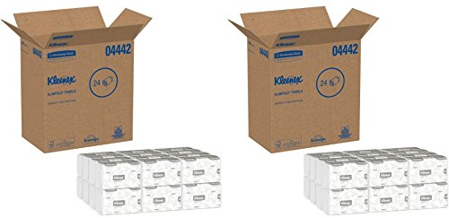 Kleenex 04442 Slimfold Paper Towels, 7 1/2 x 11 3/5, White, 90 per Pack (2 Case of 24 Packs)