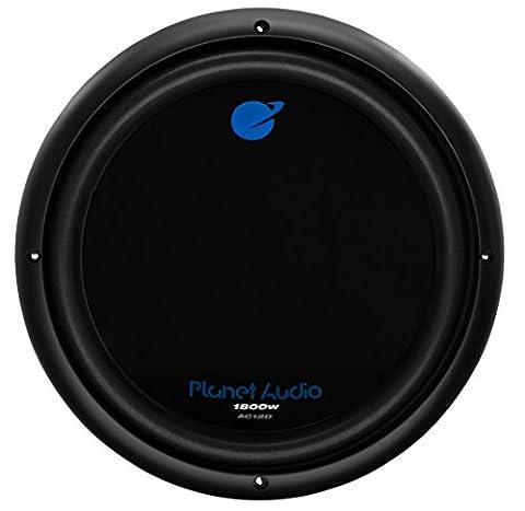 Planet Audio AC12D 1800 Watt, 12 Inch, Dual 4 Ohm Voice Coil Car Subwoofer (12 2 Sub)