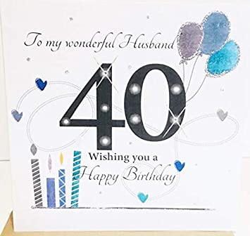 Large Happy 40th Birthday Card For Husband