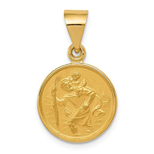 - 18K Yellow Gold Saint Christopher Medal Pendant from Roy Rose Jewelry