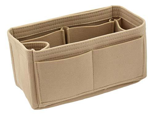 Felt Handbag Organizer Insert - Multi Pocket Bag and Tote Organizer Shaper Liner Insert (Small, Beige) - Monogram Canvas Speedy 30