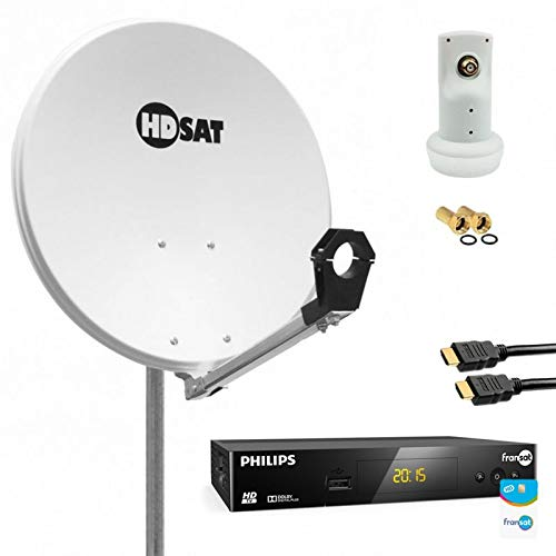 HDSAT Pack Antena parabólica (60 cm) con LNB + Receptor ...