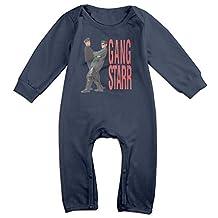Cotton Unisex Long Sleeve Onesies Toddler Bodysuit White Gang Starr Onesies